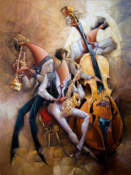 Modern Art Abstract Music Guitarist 5D DIY Diamond Painting Kits NB0058