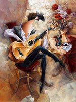 Modern Art Abstract Music Guitarist 5D DIY Diamond Painting Kits NB0061
