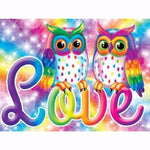 Hot Sale Special Colorful Owl Lover Diy Diamond Painting Cross Stitch VM1067