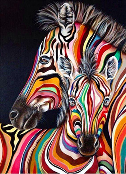 Modern Art Full Square Drill Zebra 5D Diy Cross Stitch Diamond Painting Kits NA0372
