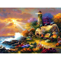 2019 5d Diy Diamond Painting Kits Mosaic Lighthouse VM8372