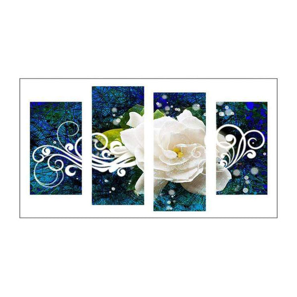 Multi Panel Flower Embroidery 5D DIY Full Drill Diamond Painting Kits QB8043