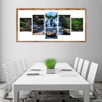 Multi Panel Landscape Waterfall Embroidery 5D DIY Full Drill Diamond Painting Kits QB8059