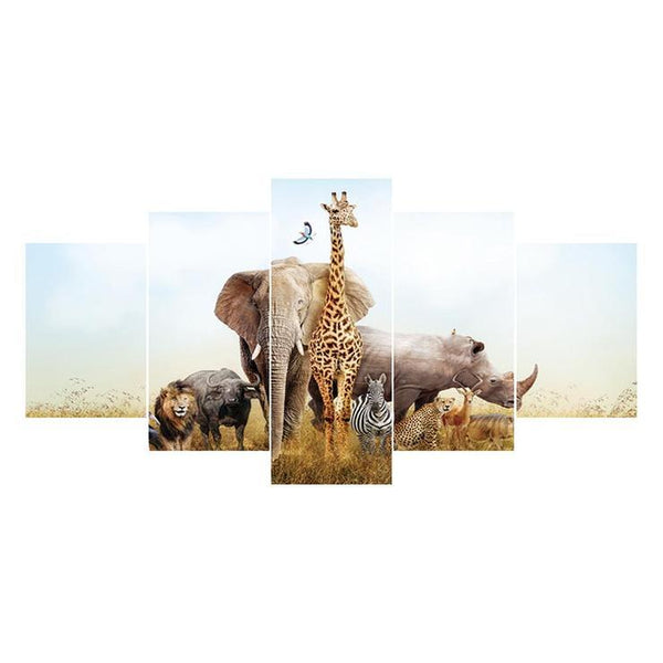 Multi Panel Wildlife Animal Embroidery 5D DIY Full Drill Diamond Painting Kits QB8053
