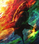 5d Diy Diamond Painting Kits Watercolor Shark  NA0393