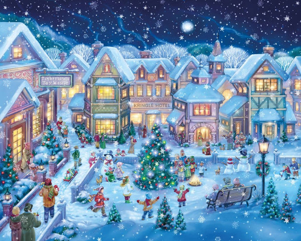 Christmas Tree Village In Winter 5D Diy Diamond Painting Kits NW91004