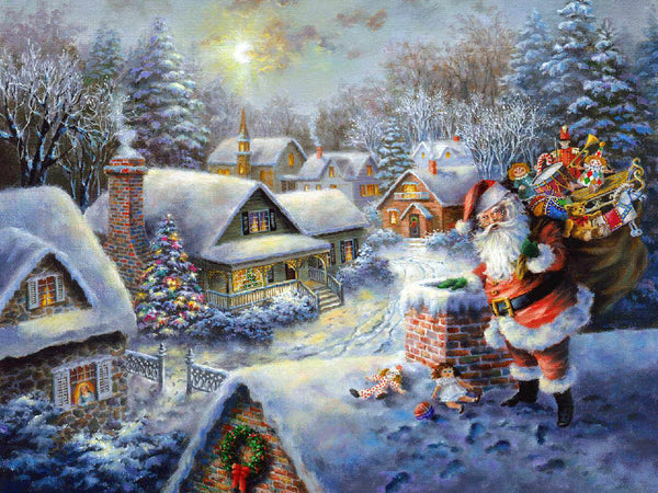 Christmas Tree Village In Winter 5D Diy Diamond Painting Kits NW91011