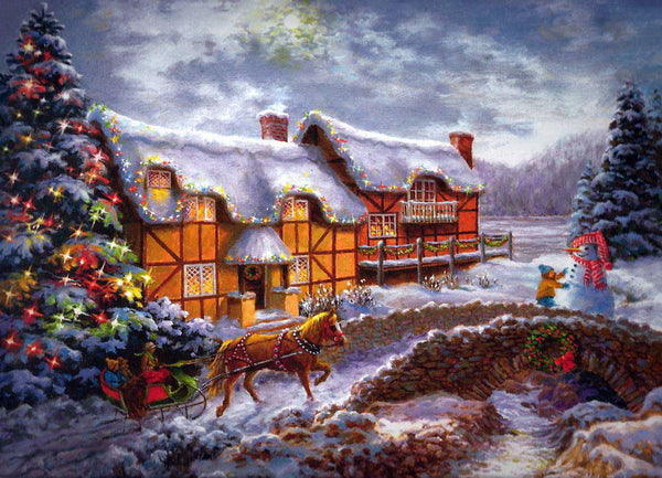Christmas Tree Village In Winter 5D Diy Diamond Painting Kits NW91019