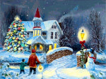 Christmas Village In Winter 5D Diy Diamond Painting Kits NW91034