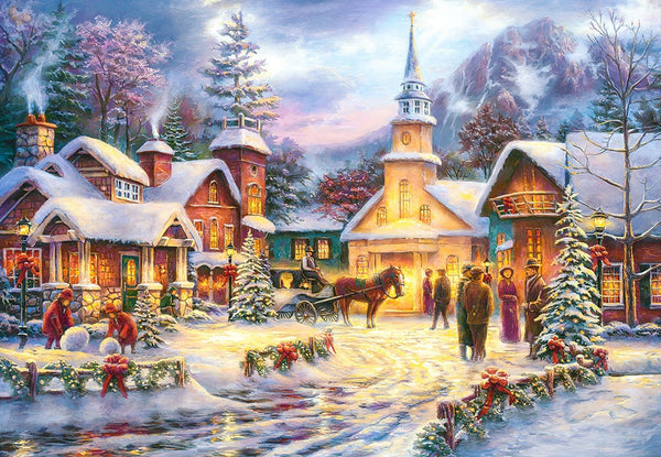 Christmas Tree Village In Winter 5D Diy Diamond Painting Kits NW91042