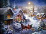 Christmas Tree Village In Winter 5D Diy Diamond Painting Kits NW91048