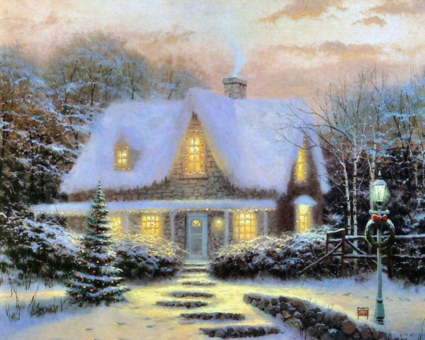 Christmas Tree Village In Winter 5D Diy Diamond Painting Kits NW91050