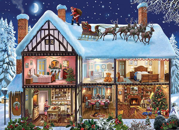 Christmas Village In Winter 5D Diy Diamond Painting Kits NW91054