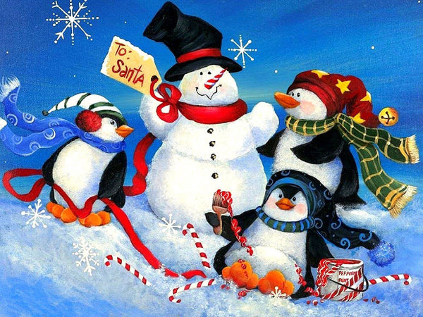 Christmas Snowman 5D DIY Diamond Painting Kits NW91055