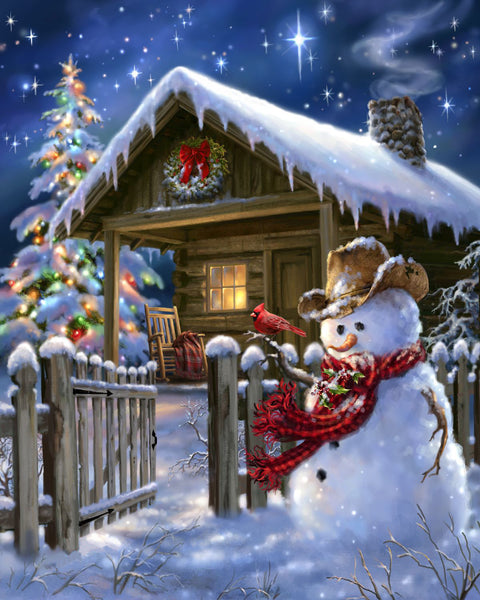 Christmas Snowman 5D DIY Diamond Painting Kits NW91084