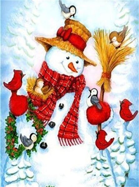 Christmas Snowman 5D DIY Diamond Painting Kits NW91090