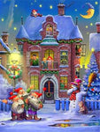 Christmas Village In Winter 5D Diy Diamond Painting Kits NW91121