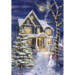 Christmas Village In Winter 5D Diy Diamond Painting Kits NW91141