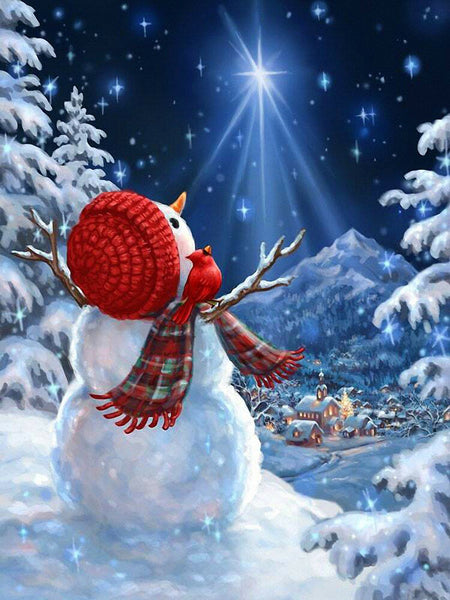 Christmas Snowman 5D DIY Diamond Painting Kits NW91160