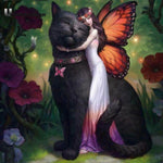 New Arrival Cat And Fairy 5d Diy Cross Stitch Diamond Painting Kits QB6400