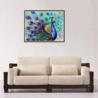 New Arrival Dream Colorful Peacock Diy Diamond Painting Cross Stitch VM1061 (1766934544474)