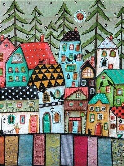 New Cartoon Houses 5D DIY Embroidery Cross Stitch Diamond Painting Kits NA0721