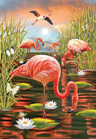 2019 5D DIY Diamond Painting Flamingo Rhinestone VM92166