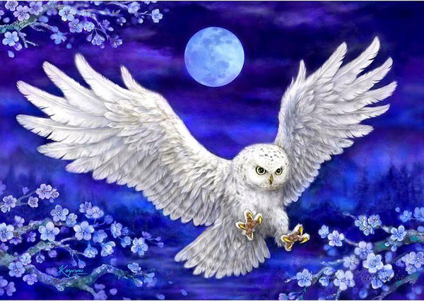 New White Owl Full Drill 5D DIY Diamond Painting Kits Embroidery Arts Cross Stitch VM92191