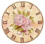 5d Diy Cross Stitch Diamond Painting Kits Flower Clock NB0168