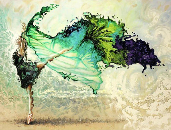 5d Diy Diamond Painting Kits Watercolor Dancer NA0943
