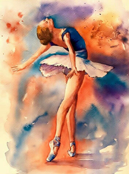 5d Diy Diamond Painting Kits Watercolor Dancer Girl NA0927