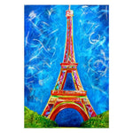 Oil Painting Style Landscape Eiffel Tower Diy 5d Diamond Painting Kits QB5365