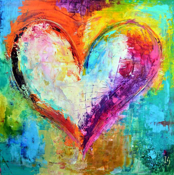 Oil Painting Style Love Heart 5D DIY Embroidery Cross Stitch Diamond Painting Kits NA0728