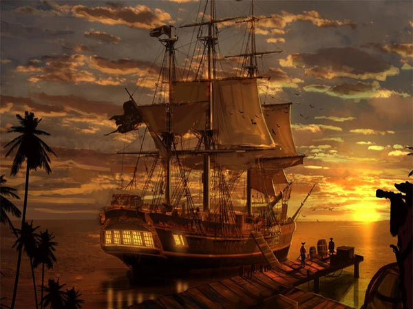 5d Diy Cross Stitch Diamond Painting Kits Pirate Ship NA0899