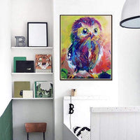 Lovely Modern Art Styles Colorful Owl Diamond Painting Kits For Kids AF9222
