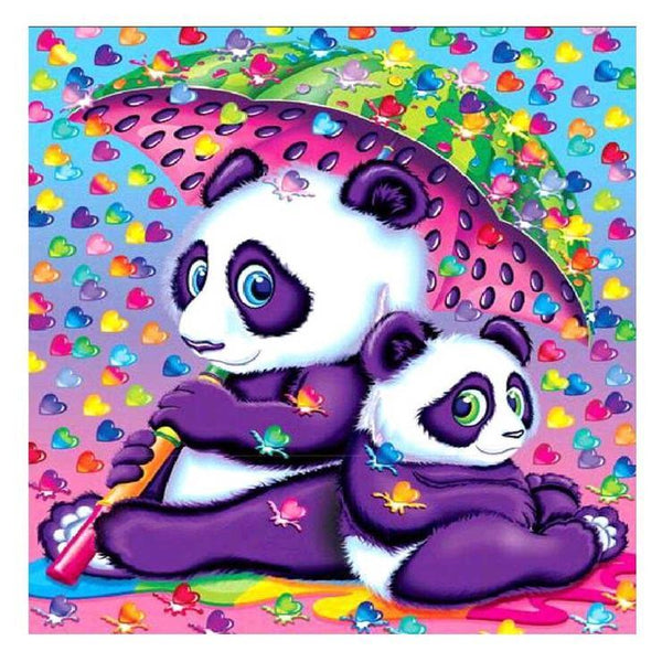 Cartoon Styles Lovely Colorful Pandas Diamond Painting Kits AF9691