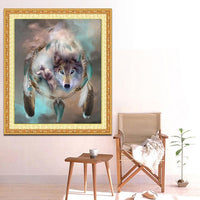 2019 5d Diy Diamond Painting Kits Dream Catcher And Wolf VM77001