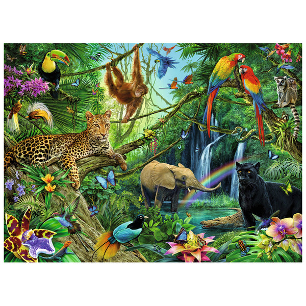5d Diy Diamond Painting Kits Special Safari Wildlife QB8009