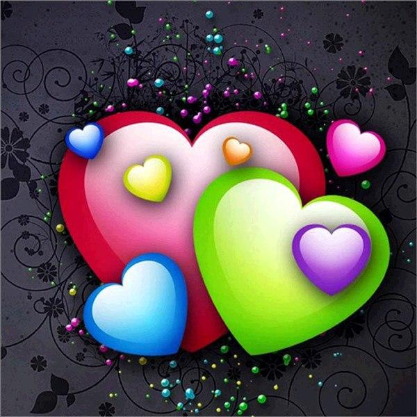 5D DIY Diamond Painting Kits Cartoon Heart-Shaped NB0138