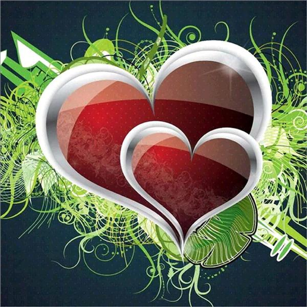 5D DIY Diamond Painting Kits Cartoon Heart-Shaped  NB0139