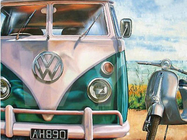 5D DIY Diamond Painting Kits Special Volkswagen Bus NB0124