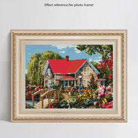 5D DIY Cross Stitch Diamond Painting Kits Red House NA0783