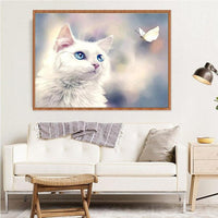 New Arrival Hot Sale Rhinestone Pet Cat 5d Diy Diamond Painting Kits VM8672