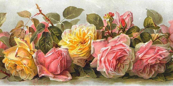 5D DIY Diamond Painting Kits Embroidery Art Rose Flowers VM92258