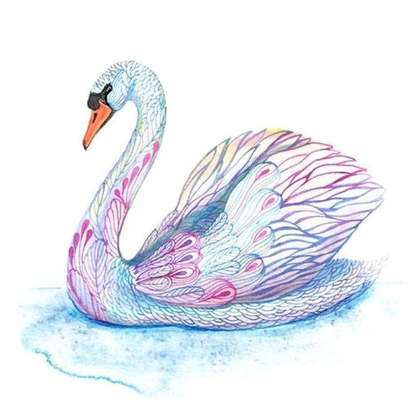 2019 5d DIY Diamond Painting Kits Colorful Swan VM6204