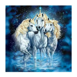 2019 5d DIY Diamond Painting Kits Three Unicorns VM6202