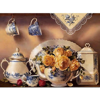 New Kitchen Tableware 5D DIY Cross Stitch Diamond Painting Kits NB0011
