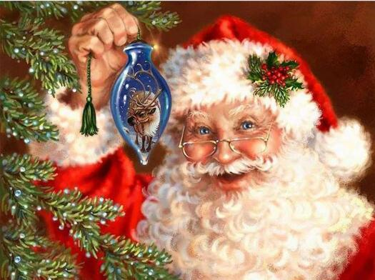 5D DIY Diamond Painting Kits Embroidery Art Santa Claus VM1807