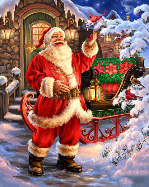2019 5D Diy Diamond Painting Kits Santa Claus Christmas VM7579