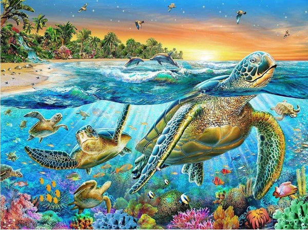 5D DIY Diamond Painting Kits Embroidery Art Sea Turtle  VM92268